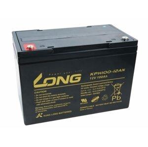 Long Olověný akumulátor Deep Cycle AGM M6 12V 100Ah pro elektromotory