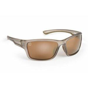 Fox Brýle Avius® Wraps Trans Khaki Frame Sunglasses Brown Mirror Lens