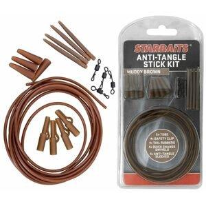 Starbaits Sada závěs na olovo Anti Tangle Stick Kit 4ks - hnědá