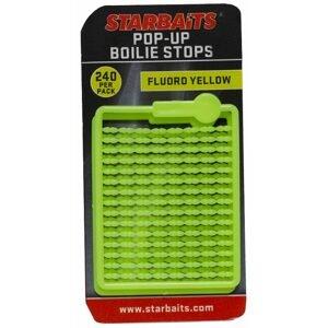 Starbaits Zarážky Bait Stopper Pop UP Fluo 240ks - žlutá