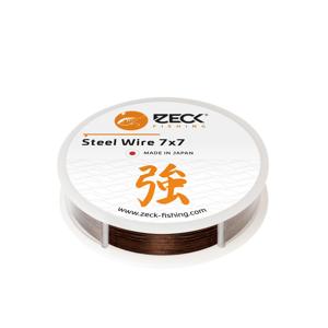 Zeck Vazatelné ocelové lanko Steel Wire 7x7 3m