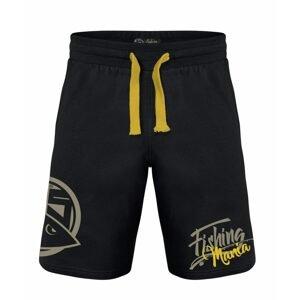 Hotspot Design Kraťasy Fishing Mania černá/žlutá - XL