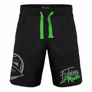 Hotspot Design Kraťasy Fishing Mania černá/zelená - XL