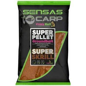 Sensas Krmítková směs Crazy Baits 1kg - Super Krill