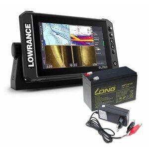 Lowrance Echolot Elite FS 9 se sondou Activeimaging 3v1 + baterie + nabíječka ZDARMA