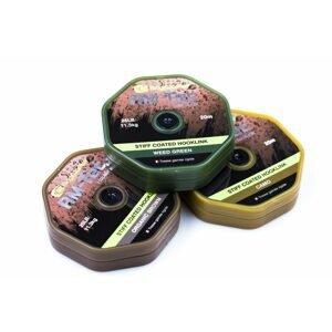 RidgeMonkey Šnůra RM-Tec Stiff Coated Hooklink 35lb 20m - Zelená