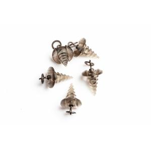 RidgeMonkey Úchyt nástrahy RM-Tec Hook Ring Bait Screws 5ks