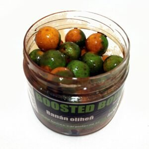Carp Inferno Boosted Boilies Nutra 20mm 300ml - Banán&Oliheň