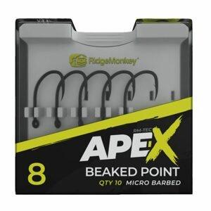 RidgeMonkey Háček Ape-X Beaked Point Barbed 10ks - vel. 8