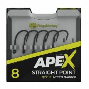 RidgeMonkey Háčky Ape-X Straight Point Barbed 10ks - vel. 6