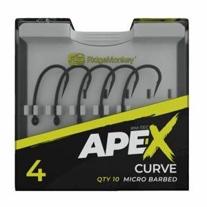 RidgeMonkey Háčky Ape-X Curve Barbed 10ks - vel. 4