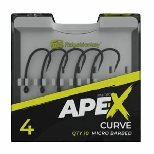 RidgeMonkey Háčky Ape-X Curve Barbed 10ks - vel. 6