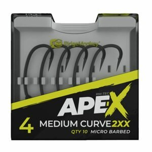 RidgeMonkey Háčky Ape-X Medium Curve 2XX Barbed 10ks - vel. 6