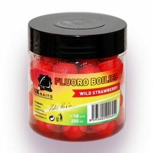 LK Baits Fluoro Boilies 18mm 250ml - Wild Strawberry