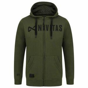 Navitas Mikina Core Zip Hoody Green - XXL