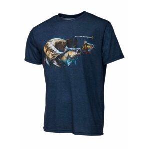 Savage Gear Triko Cannibal Tee Blue - L
