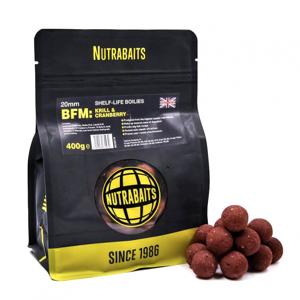 Trvanlivé Boilie Nutrabaits BFM Krill Cranberry 20mm 1kg