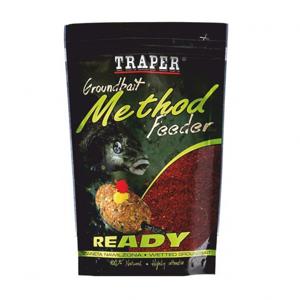 Krmítková Směs Traper Groundbait Method Feeder Ready 750gr Červený Halibut