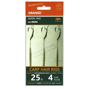 3ks - Hotový Návazec Life Orange Carp Hair Rigs S2 Velikost 8/15lb