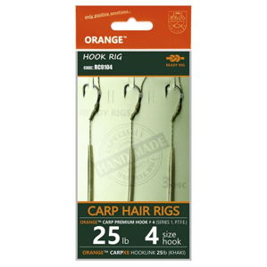 3ks - Hotový Návazec Life Orange Carp Hair Rigs S1 Velikost 4/25lb