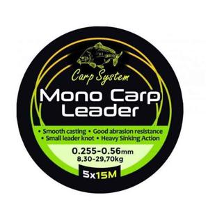 Šokový Návazec Carp System 15m 0,30-0,57mm 10,6-31,4kg
