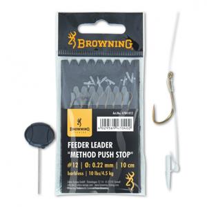 Hotový Návazec Browning Feeder Leader Method Push Stop 8ks Velikost 12