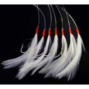 Návazec Shakespeare Mackerel Feathers White