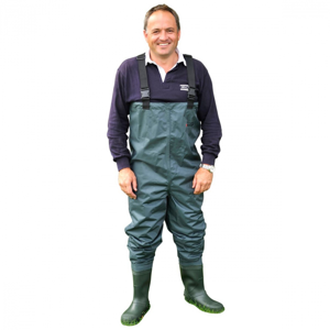 Prsačky Shakespeare PVC Chest Wader Cleated Sole Velikost 46