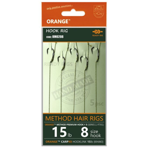5ks - Hotový Návazec Life Orange Method Hair Rigs S2 Velikost 10