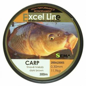Vlasec Sema Carp Dark Brown 300m 0,30mm/11,9kg