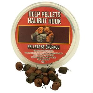 Chytací Pelety na Provázku Vaďo Deep Pellet Halibut Dipované 50gr Natura