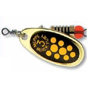 Třpytka Rotační Mepps Black Fury zlatá/černá/žlutá Velikost 0