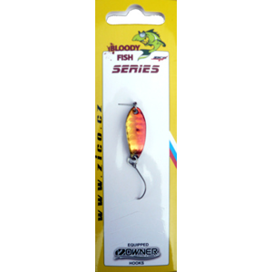 Třpytka Plandavka Zico Bloody Fish 30mm 3,8gr Červená/Zlatá