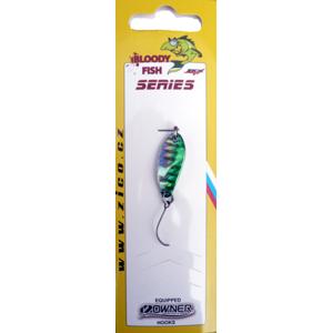 Třpytka Plandavka Zico Bloody Fish 30mm 3,8gr Zelená/Stříbrná