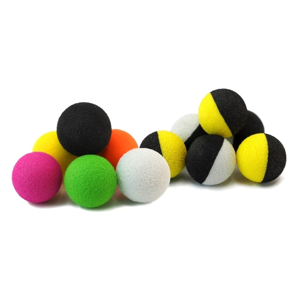 Pěnová nástraha tandem baits zig balls 14mm fluo bílá