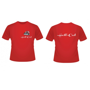 Tričko Hell-Cat Classic Červené Velikost L