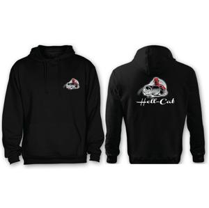 Mikina Hell-Cat s Kapucí Černá Velikost L