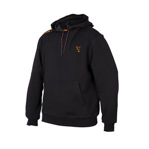 Mikina Fox Collection Black/Orange Hoodie Velikost XXL