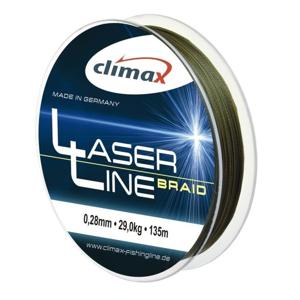 Pletená Šňůra Climax Laser Line Braid Olive 135m 0,08mm/6,4kg
