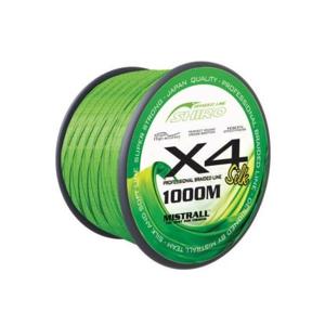 Pletená Šnůra Mistrall Shiro Braided Line X4 1000m 0,23mm/23,60kg