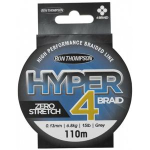Ron Thompson Šňůra Hyper 4 Braid Grey 110m 0,13mm, 6,8kg