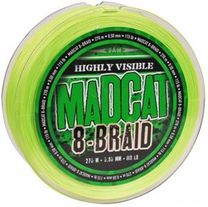 Pletená Šňůra MADCAT 8-Braid Zelená 270m 0,35mm/29,5kg