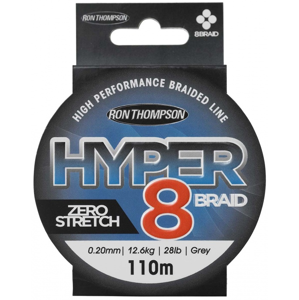 Ron Thompson Šňůra Hyper 8 Braid Dark Grey 110m 17mm 11,3kg