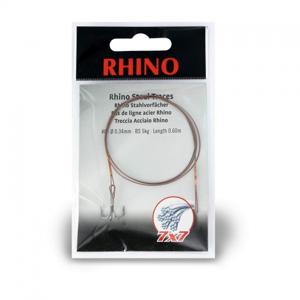 Rhino ocelové lanko 7x7 Steel Traces s trojháčkem 0,60m vel.8 5kg
