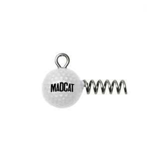 2ks - Jigová Hlavička MADCAT Golf Ball Screw-IN Jighead Hmotnost 80gr