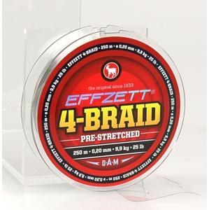 Pletená Šňůra Effzet 4-Braid Moss Green 250m 0,10mm/4,5kg/10lb