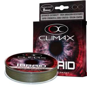 Pletená Šňůra Climax iBraid Zelená Oliva 135m 0,14mm/11,3kg