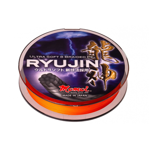 Pletená Šňůra Momoi RYUJIN Orange 150m 0,10mm/9kg