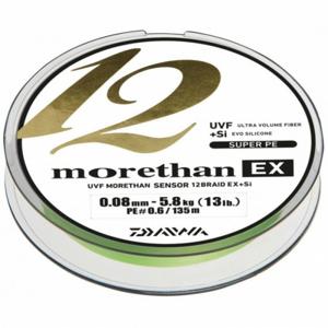 Pletená Šňůra Daiwa Morethan 12 Braid EX+SI Lime Green 300m 0,08mm/5,8kg