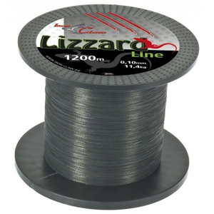 Pletená Šňůra Iron Claw Lizzard Šedá 1200m 0,04mm/3,6kg